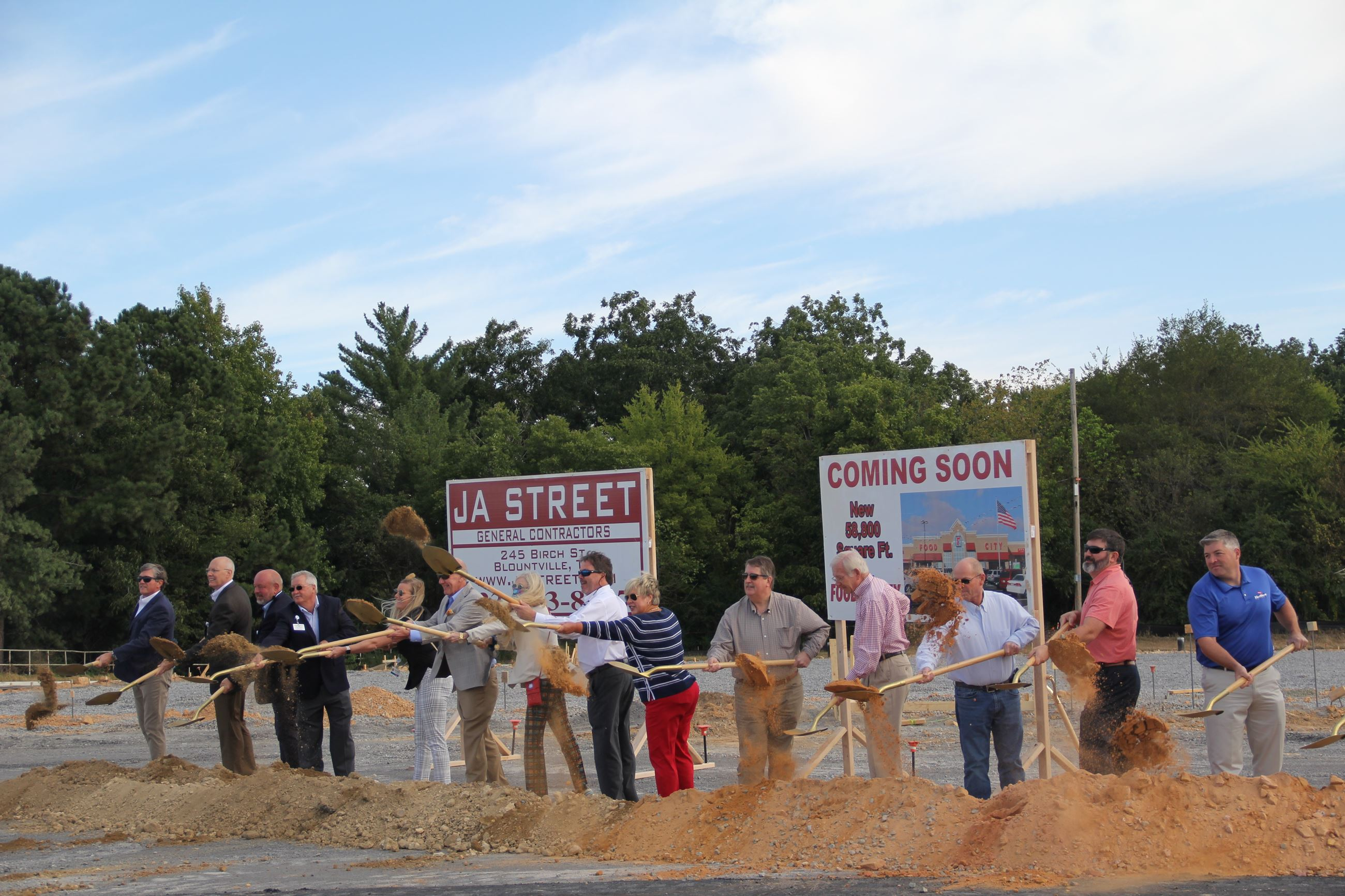 City of Albertville Officials Breaking Ground on New Development